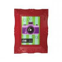Porta Retrato Retrô De Plástico Vermelho 10 x 15 cm 92511 - FWB