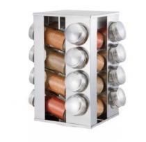Porta Tempero Condimento 16 Potes  Suporte Base Giratória Inox - Oem