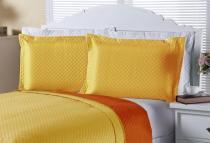 Porta Travesseiro Clean 02 Peças - Amarelo - Enxovais Aquarela