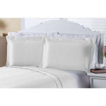 Porta Travesseiro Clean 02 Peças - Branco - Enxovais Aquarela