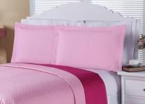 Porta Travesseiro Clean 02 Peças - Rosa - Enxovais Aquarela