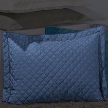 Porta Travesseiro Dream Azul Marinho - Markine - Branco - Sulamita