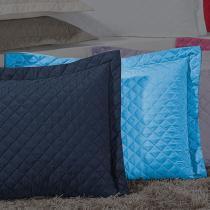 Porta Travesseiro Dream Azul Royal - Markine - Branco - Sulamita