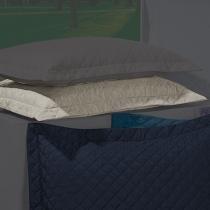 Porta Travesseiro Dream Kaki - Markine - Branco - Sulamita