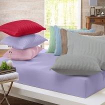 Porta Travesseiro Malha In Cotton Cinza Metal - Altenburg - Cinza Purple - Altenburg