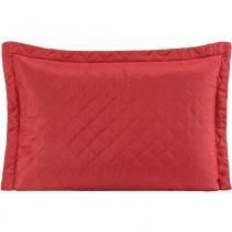 Porta Travesseiro MR Microfibra 01 Peça Matelado Ultrassônico - Vermelho - Paulo cezar enxovais