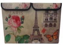 Porta Treco Bau Dobravel Para Guardar Volumes Vintage Retro Torre Eiffel - Braslu