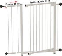 Portão Grade de Segurança para vãos de 70 cm á 80 cm Branco Multiforma -