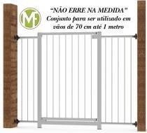 Portão Grade de Segurança para vãos de 70 cm até  1mt Branco Multiforma -