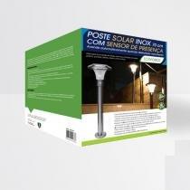 Poste Solar Inox Ecoforce 70 cm com Sensor de Movimento - Ecoforce