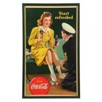 Poster Adesivo Coca Cola  Aeromoça 70x50 cm - Sunset adesivos