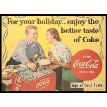 Poster Adesivo  Coca Cola Holiday 70x50 cm - Sunset adesivos