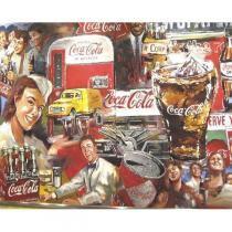 Poster Adesivo  Coca Cola Multi Color 70x50 cm - Sunset adesivos
