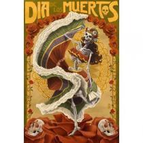 Poster Adesivo Dia de los Muertos 70x50 cm - Sunset adesivos