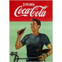 Poster Adesivo  Drink Coca Cola 70x50 cm - Sunset adesivos