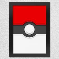 Poster com moldura poketball - Yaay
