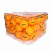Pote com 36 Bolas de Ping Pong 40 mm Klopf - Laranja -