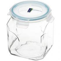 Pote de Vidro Hermético Quadrado com Tampa 1,5L - Etilux Glasslock Canister