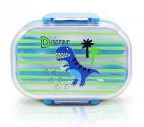 Pote p/ Lanche Infantil de 2 Andares Dinossauros Jacki Design -