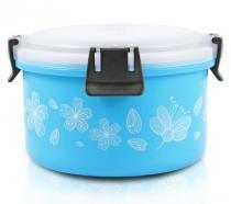 Pote Para Marmita Inox Tam. P Azul PP + Aço Inox Jacki Design -