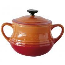 Pote para sopa com tampa laranja - Unica - Yongxuan