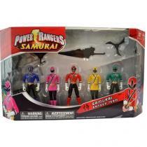 Power Rangers Samurai com 5 Bonecos - Sunny Brinquedos