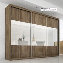 Prada Gold Glass 3 portas - Rovere/Vanilla/Rovere - Rovere/Vanilla/Rovere - Panan