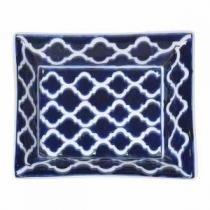 Prato de Porcelana Azul Escuro - Decorafast