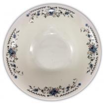 Prato de porcelana fundo 18cm 400 ml estampado flor azul p7t5240 yazi -
