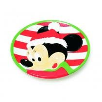 Prato Disney Minnie Mesa Natal 20 Cm - Cromus