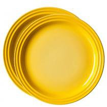 Prato Sobremesa 2 Peças 15 cm Amarelo Dijon Le Creuset - Le Creuset