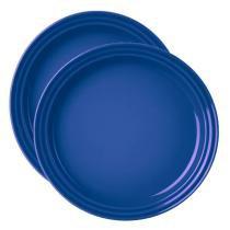 Prato Sobremesa 2 Peças 15 cm Azul Cobalto Le Creuset - Le Creuset