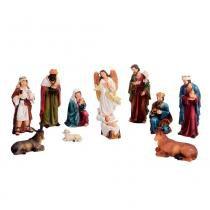 Presépio 11 peças Boas Novas 15cm Santini Christmas -