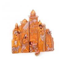 Presépio de Natal Dourado Cromus festabox