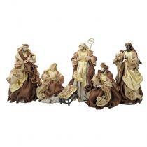 Presépio Magizi Plus Seda 6 Figuras 41 cm Marron / Dourado New 18844 -