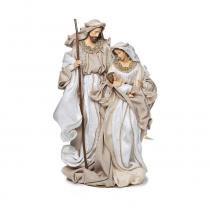 Presépio Sagrada Família Em Tecido 45Cm Marrom - Cromus