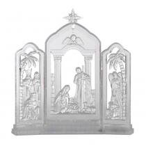 Presépio Vitral de Acrílico com Luz 22.5cm Luzes Sagradas Santini Christmas -