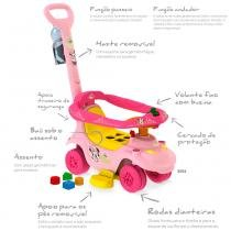 Primeiros Passos de Passeio - Andador Baby - Disney - Minnie - Bandeirante -