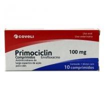 Primociclin 100mg Antibiótico Cães e Gatos c/ 10 comprimidos - Coveli - Descrição marketplace -