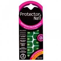 Protector Nail Película Protetora para Esmalte - Decoração Copa Bandeira do BrasiL -