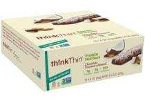 Protein Nuts Bar - Think Thin - 5 barras - Chocolate Coconut Almond - Chocolate Coconut Almond - 5 barras - Think Thin