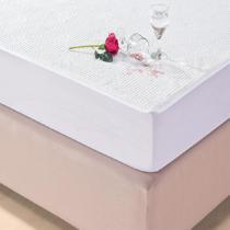 Protetor de Colchão Impermeável Solteiro Jacquard Branco Collection - Juma (30cm) - Juma Enxovais