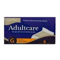 Protetor descartavel de colchao adultcare g c/5 - Adultcare