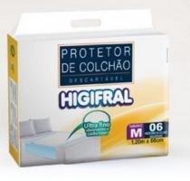 Protetor descartavel de colchao higifral m c/6 -
