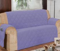 Protetor Para Sofá De 04 Lugares Com Assento De 2,10M Matelado Microfibra Lú Lilás - Enxovais Ibitinga