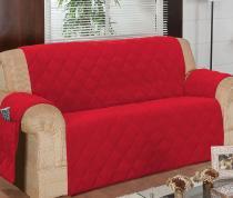 Protetor Para Sofá De 04 Lugares Com Assento De 2,70M Matelado Microfibra Lú Vermelho - Enxovais Ibitinga