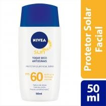 Protetor Solar Facial Nivea Sun Toque Seco Antissinais FPS 60 50ml - NIVEA
