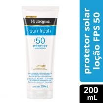 Protetor Solar Neutrogena Sun Fresh FPS 50 200ml - NEUTROGENA