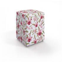 Puff com acabamento estofado Completa Móveis Floral - Completa Móveis