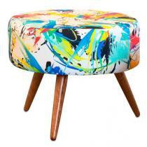 Puff Decorativo Angel Suede Color - Nay Estofados